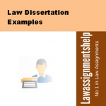 Law Dissertation Examples
