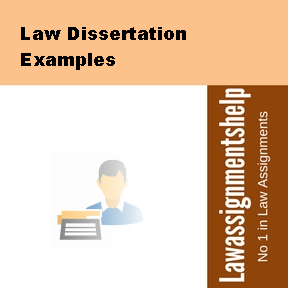 Examples of law dissertation topics